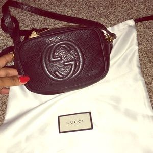 Authentic Gucci Leather Disco Crossbody